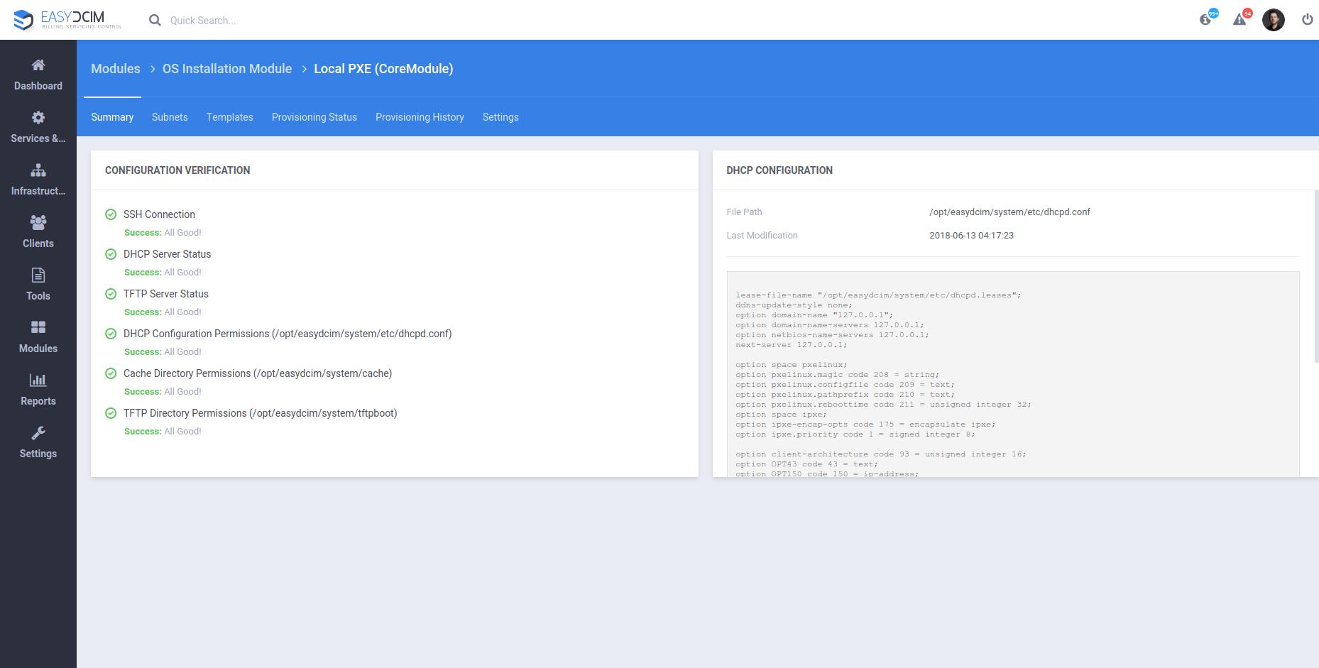 Core Provisioning Module - EasyDCIM Documentation